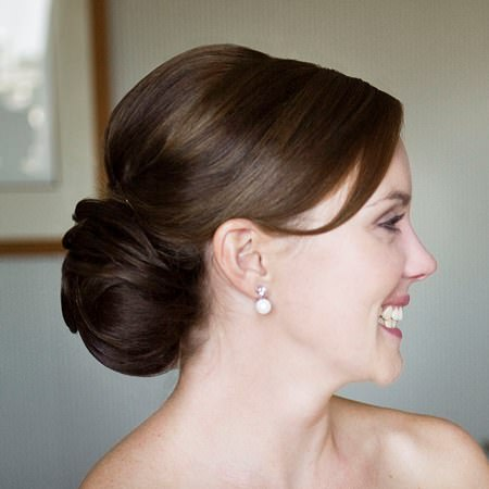 low chignon updos for long hair