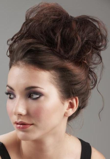 messy high bun updos for long hair