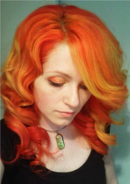 mix of orange and yellow winter hair colors