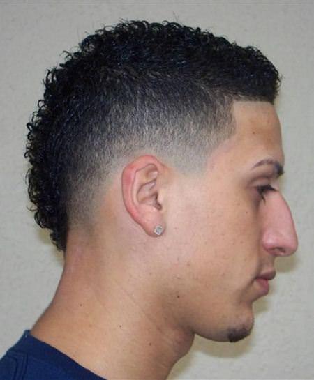 mohawk taper fade cuts for men