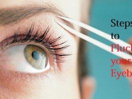 pluck your eyebrow