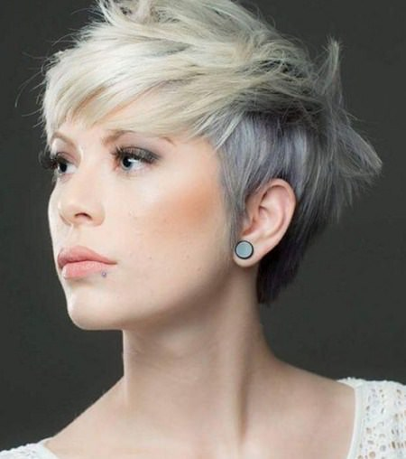 short and funky style pixie haircuts with bangs