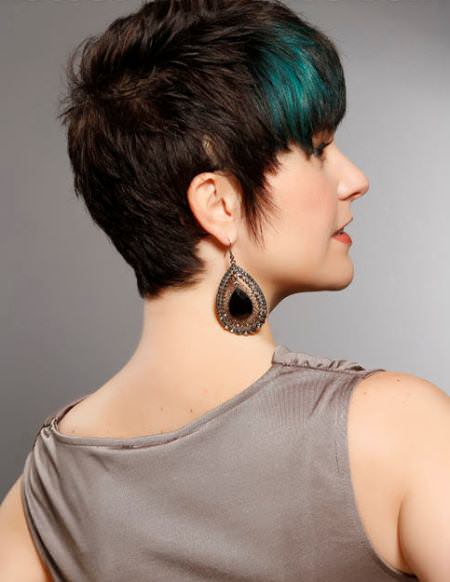 short choppy hairstyles with blue streaks short hairstyles for fine hair
