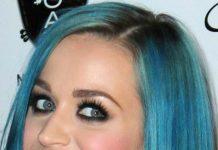 sleek asymmetrical blue bob short straight hairstyles