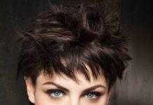 spiked wavy pixie cuts