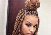 top knot braids for black women