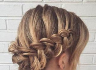 waterfall braid updo with bangs updos for thin hair