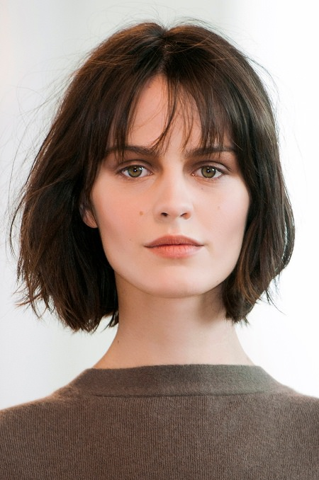 wispy chin length bob short hairstyles for women