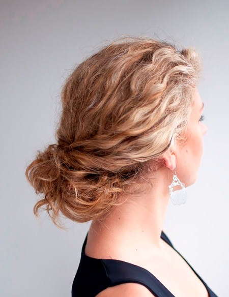 Bun hairstyle style curly hair