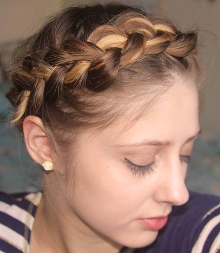Crown braid for short hair updos for short hair