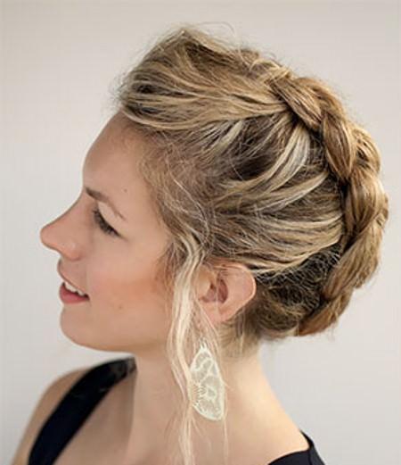 Dutch braid updos for short hair