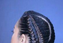 Elegant fishtail updos for natural hair