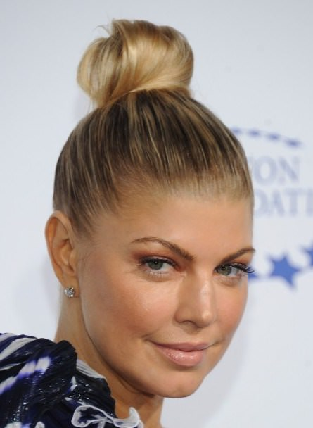 High top knot updos for short hair
