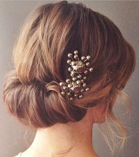 Low tuck updos for curly hair