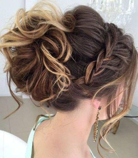 Messy and magical braided updo wedding hairstyles for long hair