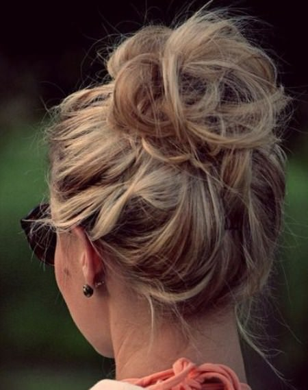 Messy casual updo updos for curly hair