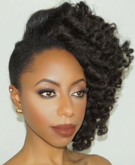 Natural side sweep hair updos for short hair
