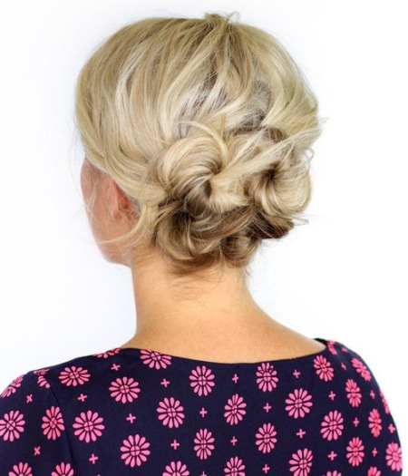 Sweet knotted updos for short hair