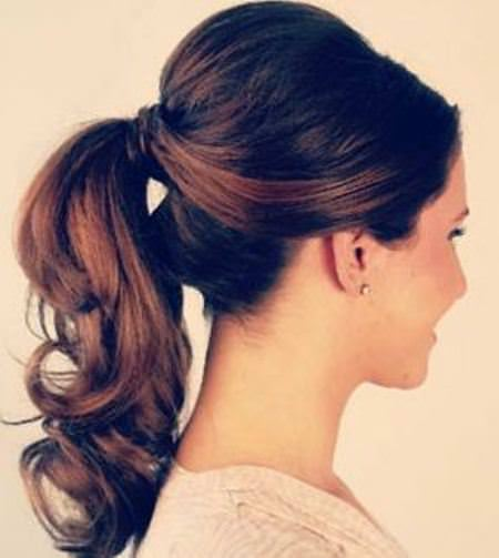 Volume boost ponytail updos for short hair