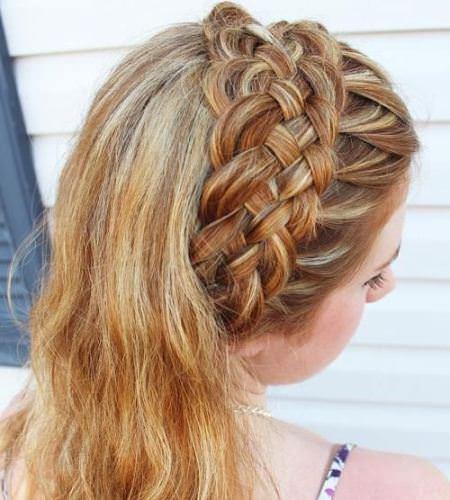 basket weave braid headband hairstyles