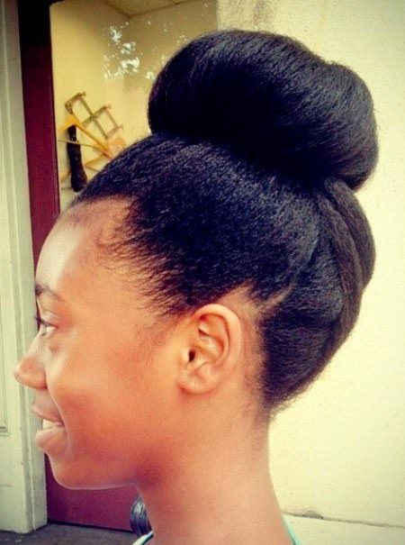 20 Simple Updos For Natural Hair