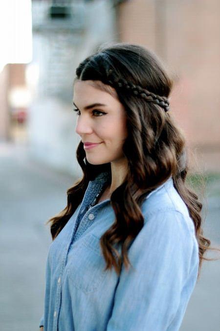braided crown brunette hairstyles