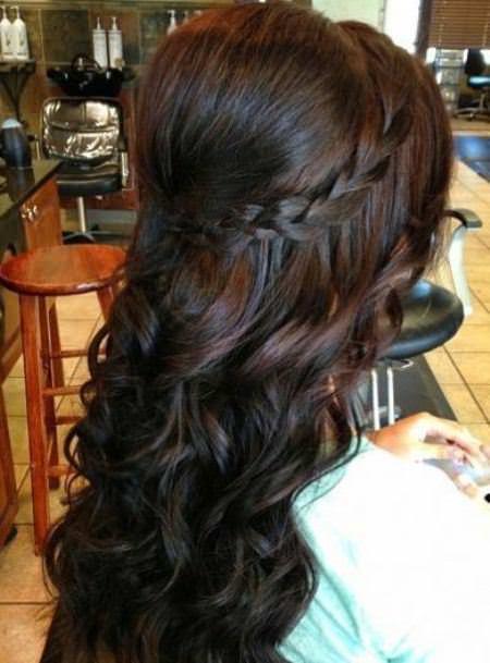 braided crown wedding hair bob style curly hair