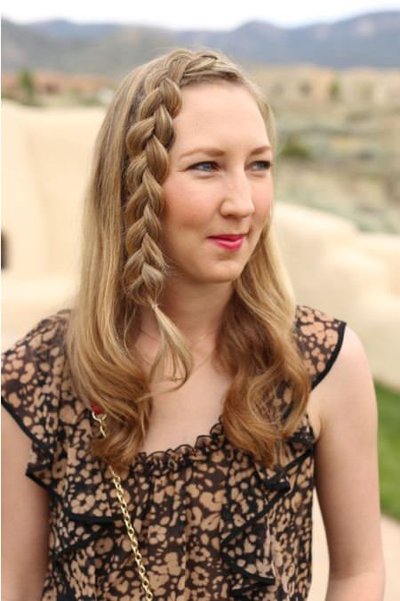 braided hairstyle with brunette highlights brunette hairstyles