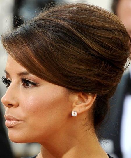 brunette french roll brunette hairstyles