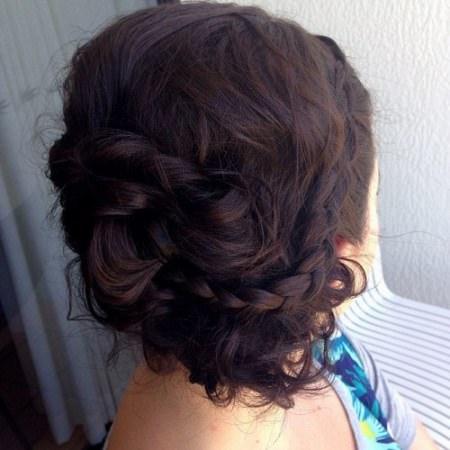 brunette messy updo brunette hairstyles