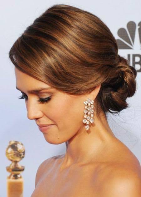 brunette sleek chignon brunette hairstyles