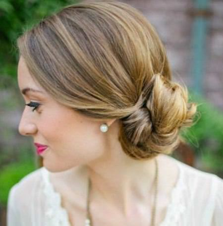 chignon wedding hairstyles for medium hair