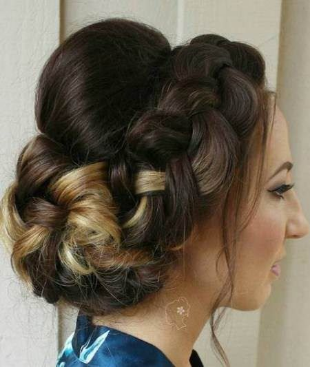 chunky crown braids with bouffant crown braids