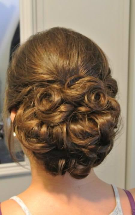 crazy curled formal chignon 'wedding hairstyles for long hair