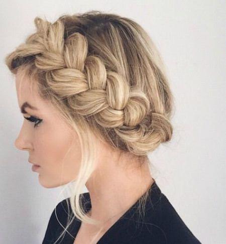 crown with side braid crown braids