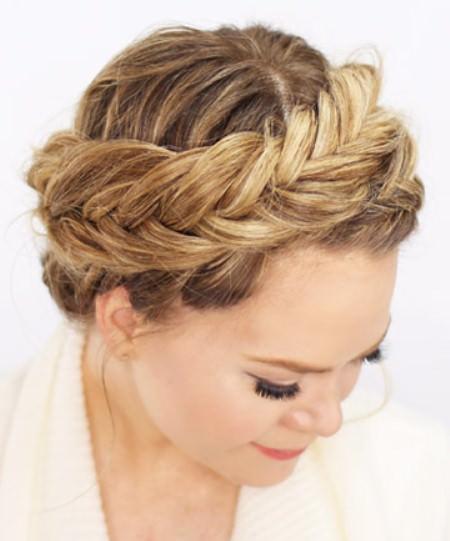 dutch fishtail crown braids