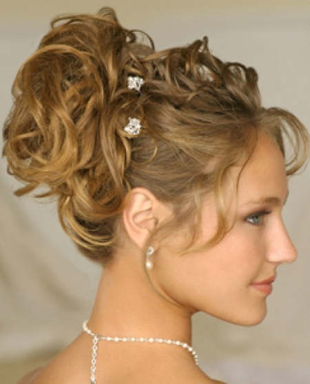 fancy updo with curls and pins updos for short hair