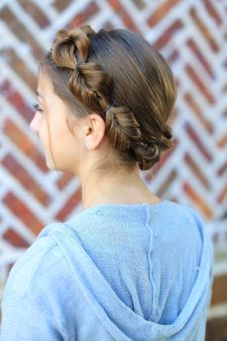 faux hawk fishtail braidstyles for girls