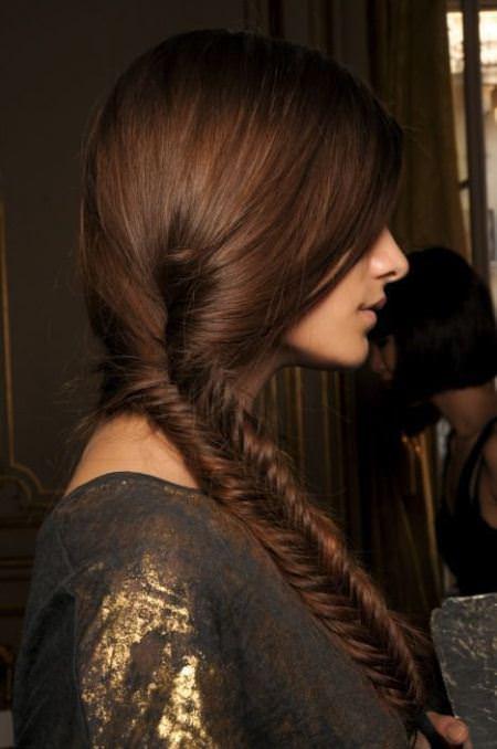 fishtail braid brunette hairstyles