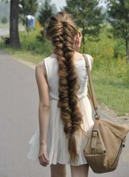 fishtail braid hairstyles for long thick hair