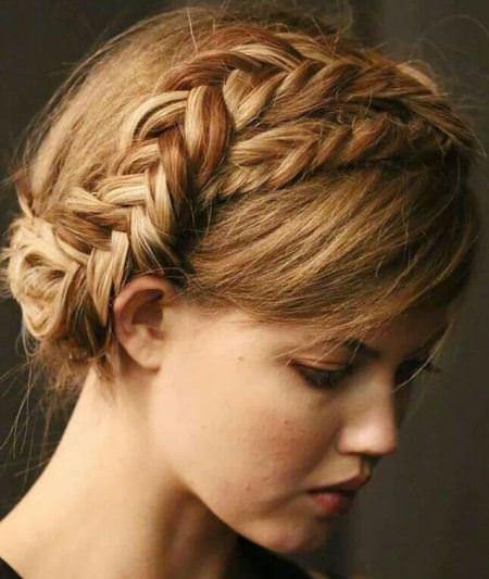 fishtail crown braids