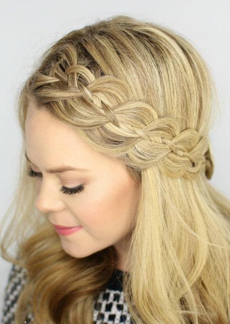 four strand braided headband hairstyles