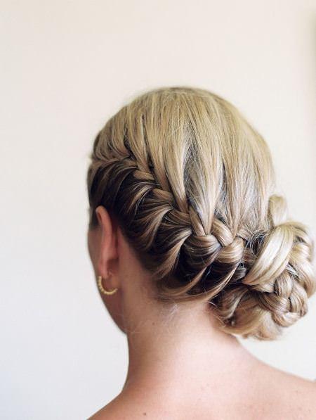 french braided side bun braidstyles for girls