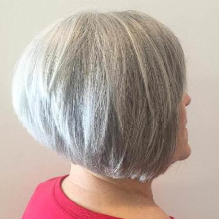 graduated gray bob haircuts for women over 60