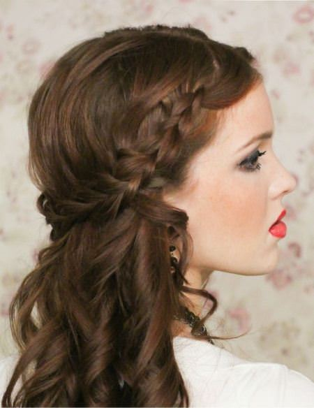 half up crown wedding hairstyles for medium hair