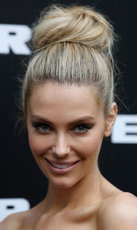 high bun hairstyles for long thick hair