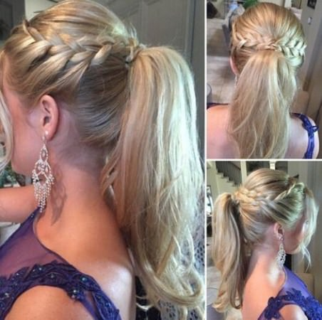 high pony with the beauty of braid braidstyles for girls