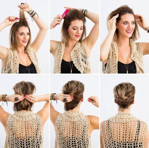 Easy Steps To Elegant Updo For Short Fine Hair
