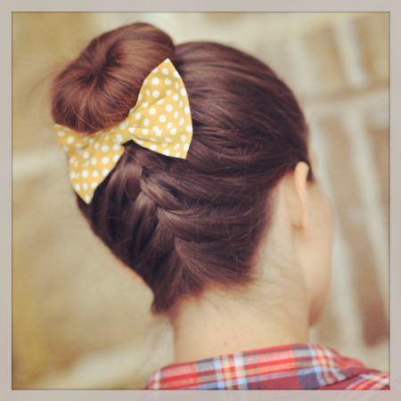 inverted french braid bun braidstyles for girls