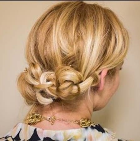 knotted Updo wedding hairstyles for medium hair